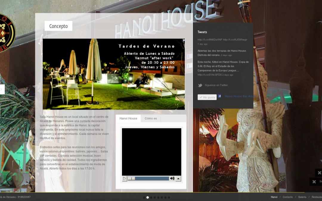 Restaurantehanoi.com en WordPress