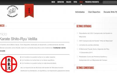 Web Club Deportivo Karate Velilla
