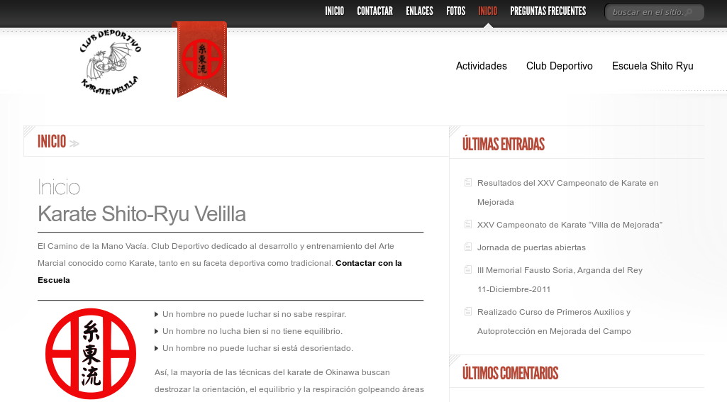Web Club Deportivo Karate Velilla