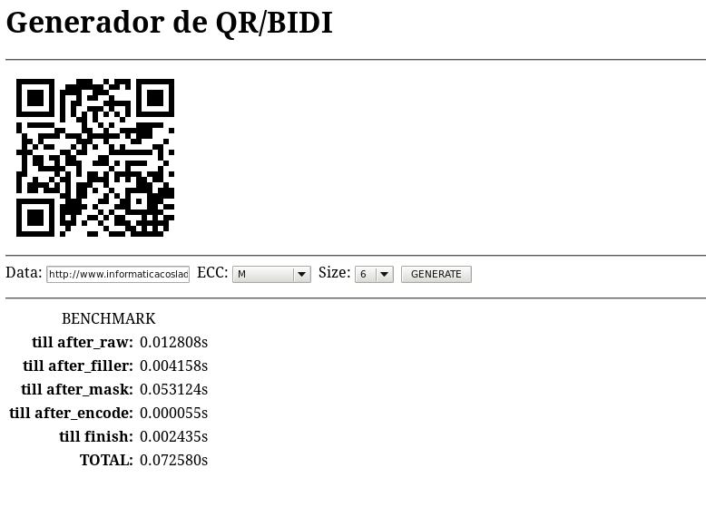Códigos QR o BIDI