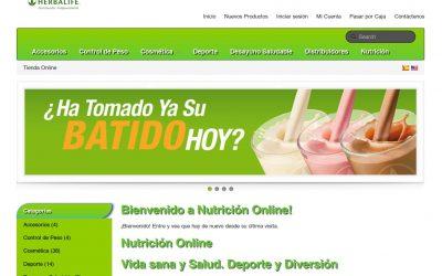 Nutricion-online.com web con Tomatocart