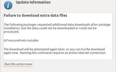 Solución para el error ttf-mscorefonts-installer al instalar fuentes Windows para Wine en Ubuntu