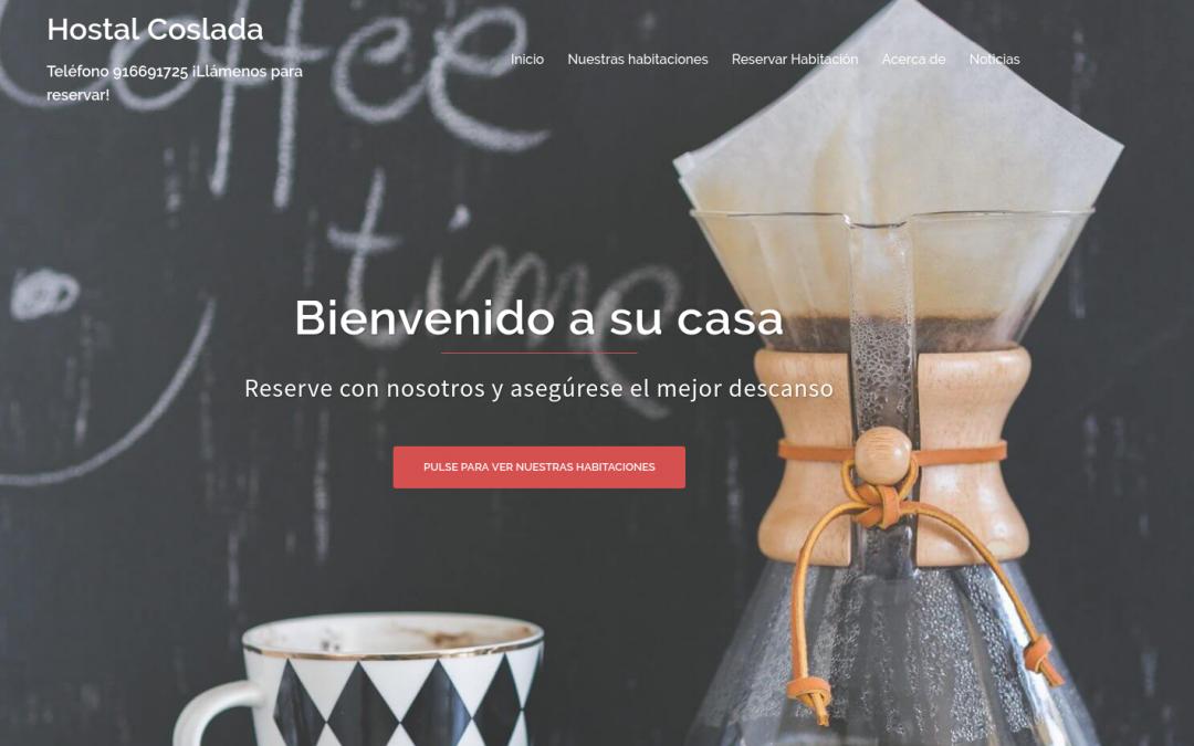 Sitio web de Hostal Coslada